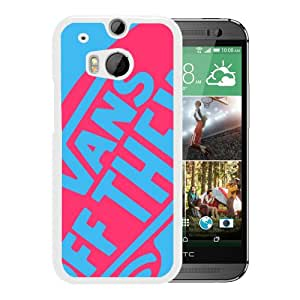 Fashionable And Unique Designed Case For HTC ONE M8 With vans 2 White Phone Case