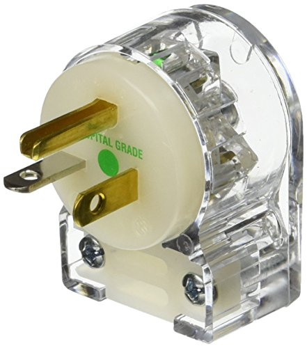 Hubbell HBL8315CAT Plug, Angle, Hospital Grade, 20 amp, 1...
