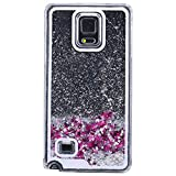 Galaxy Note 4 Skin Protective TOOPOOT Dynamic Glitter Paillette Quicksand Case For Samsung Galaxy Note 4 (Silver)