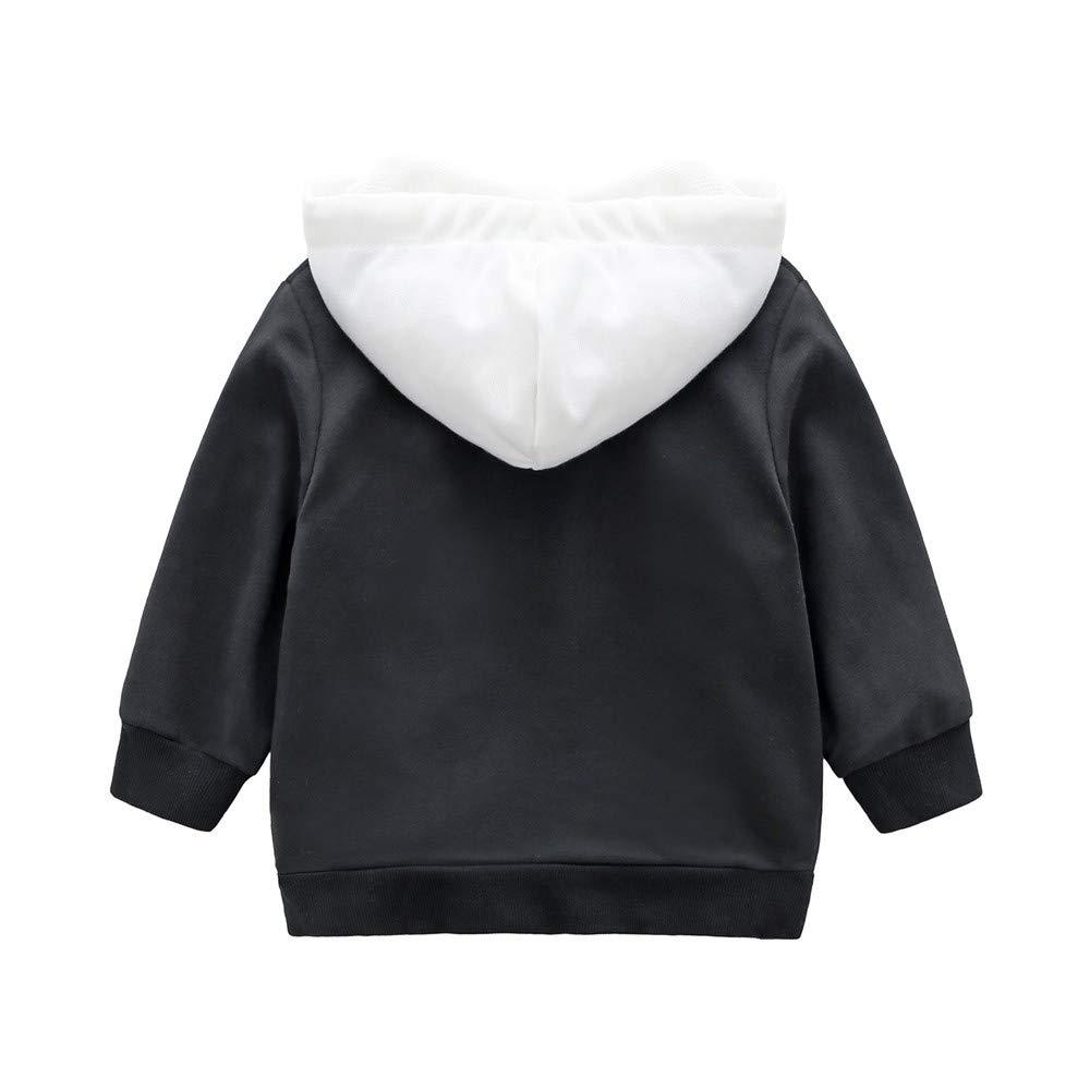 HEETEY Baby M/ädchen Junge Winter Herbst Alphanumerisches Kapuzenoberteil mit Langen /Ärmeln Nummer 6 Kapuzenshirts Sweatshirt Outfits