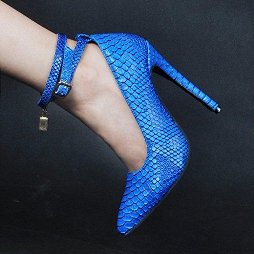 Kolnoo - Tira de tobillo Mujer Snakeskin