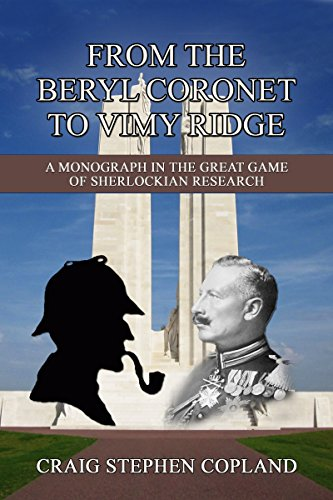 From The Beryl Coronet to Vimy Ridge: The Sherlock Holmes Factor in the Causes of World War I