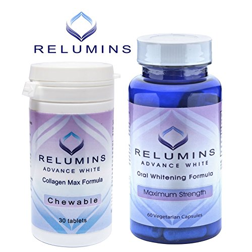 Authentic Relumins Oral Glutathione & Collagen Stack - Advance White Oral Glutathione & Advance White Collagen Max Chewables - NEW AND IMPROVED now with Rose