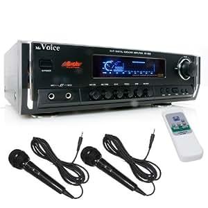 ETT Mc Voice - Amplificador para karaoke (250 W, incluye 2 micrófonos)