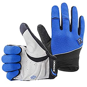ZOOKKI Cycling Gloves Mountain Bike Gloves Road Racing Bicycle Gloves Light Silicone Gel Pad Riding Gloves Touch…