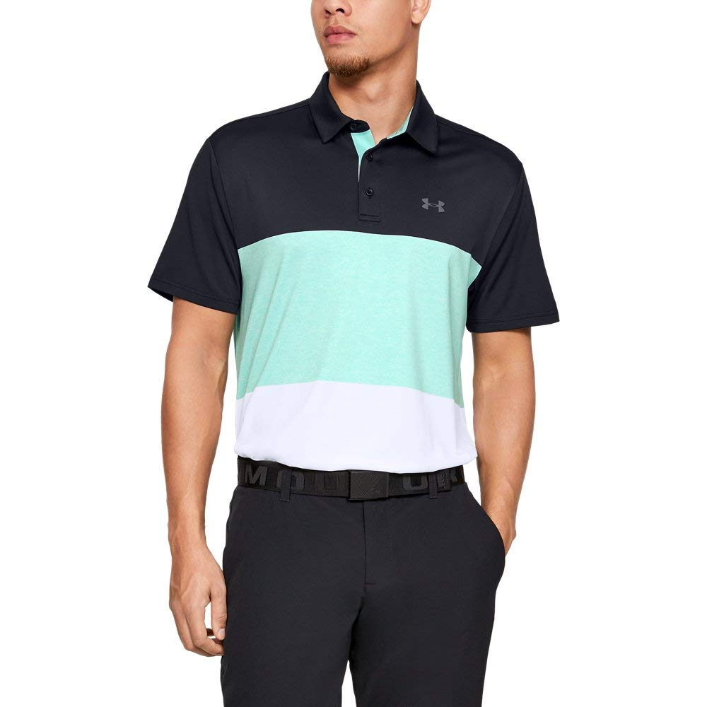 Under Armour Playoff Polo 2.0, Black//Pitch Gray, Small