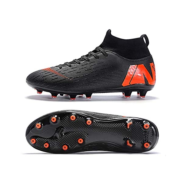 LIAOCX Men/'s Soccer Boots Shoes TF//AG Athletic Sneaker Football Boots Cleats High-top Sock for Outdoor//Indoor//Competition//Training