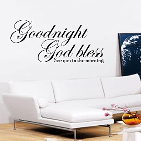 Goodnight God Bless Wall Art Quote Sticker Decal See You In The