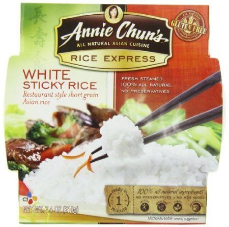 Annie Chun's Rice Express Sticky White Rice, 7.4-Ounce Microwavable Bowls (Pack of - Ounce 7.4 Bowls