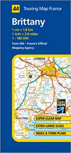 Clear Map Of France.Brittany Aa Road Map France Series Amazon Co Uk 9780749544041 Books