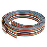 eDealMax 4pcs Cinta de Cable Plano IDC alambre Color del arco iris, DE 16 Pines, 1 mm Paso, 1M