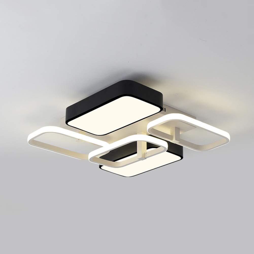 CCSUN 表面実装 シーリングライト, 四角形 Modren 寝室の天井ランプ 天井灯 の 研究 、:59 * で:55 cm-84W 自然光   B07S5JWLXP