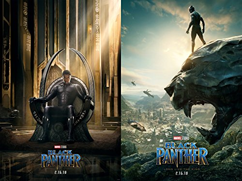 Black Panther 2018 movie Set of 2 Posters 27x40 The Ruler