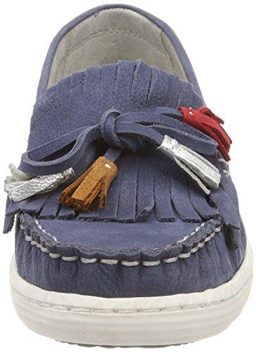 Marco Tozzi Navy comb Femme Bleu Mocassins Ant Premio Loafers 24610 16qZwrU1x