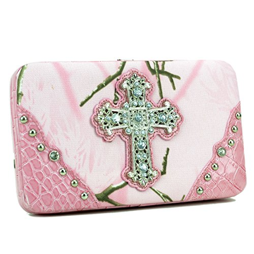 Pink Rhinestone Cross - 3
