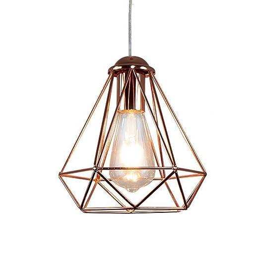 lámpara Colgante Colgante de metal Industrial Vintage con jaula ...