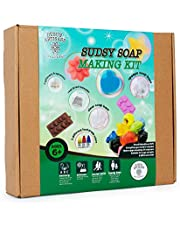 Sudsy Soap Making Kit / Fun Science Educational Kit / Handmade Melt & Pour Soap / DIY Soap Making Activity for Boys & Girls / Ages 6 and Up / Non Toxic / Sturdy Reusable Components / Great Gifts