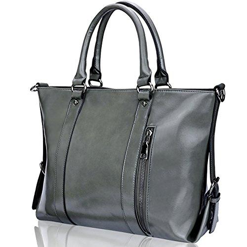 Designer Handbags for Women,Large Purses and Handbags,Women Shoulder Crossboday Bags by YAAMUU[L0007/gray]