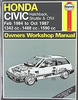 honda civic feb 84 oct 87 a to e service repair manuals rh amazon com honda civic 1987 repair manual honda civic 1987 repair manual