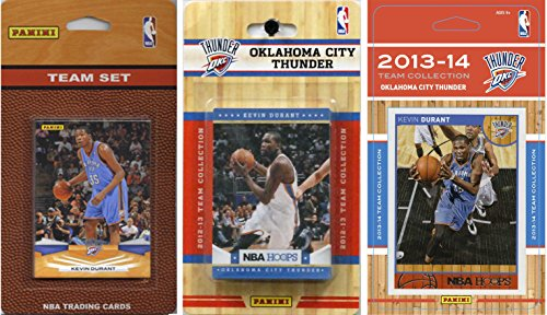 NBA Oklahoma City Thunder 3 Different Licensed Trading Card Team Sets by C&I Collectables