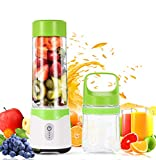 Portable Blender, LIFANTE Personal Blender for Shakes and Smoothies with 2 Juicer Cup, USB Rechargeable Fruit Mixer, Baby Food Blender, FDA Approved, BPA Free (Green)