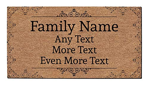 Custom Name Gifts Personalized Text Doormat Custom Welcome Mat Personalized Doormat Simulated Coir (Door Outdoor Mats Front Personalized)