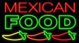 Desung Brand New 32'' Mexican Food Peppers Neon Sign (Multiple Sizes Available) Custom Restaurant Food Shop Neon Lights Lamp Sports Bar Beer Signs Glass Neon Light CA156