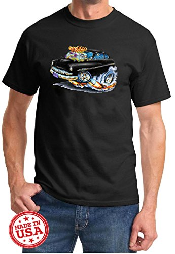 1950 1951 Mercury Coupe Cartoon Muscle Car Design Tshirt 2XL Black 1950 Mercury Coupe