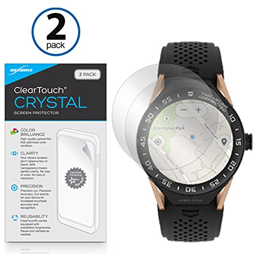 Tag Heuer Connected Modular 45 Screen Protector, BoxWave [ClearTouch Crystal (2-Pack)] HD Film Skin - Shields from Scratches for Tag Heuer Connected Modular 45