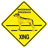 KC Creations Rhodesian Ridgeback Xing Caution Crossing Sign Dog Gift