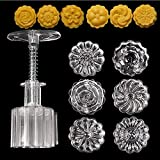 Orgrimmar 3D Moon Cake Mold Mid Autumn Festival DIY Decoration Cookie Press With 6 Stamps