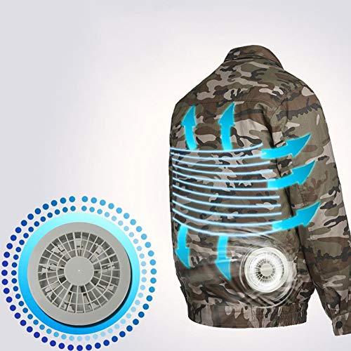 Lavoro Shininglove Ventola Giacca Esterno Condizionata Alta Cerniera Caccia Per Di Di Temperatura Vestiti Doppio Protettivo Cielo Aria Blu Raffreddamento Pesca Sole wZXq45Zxd