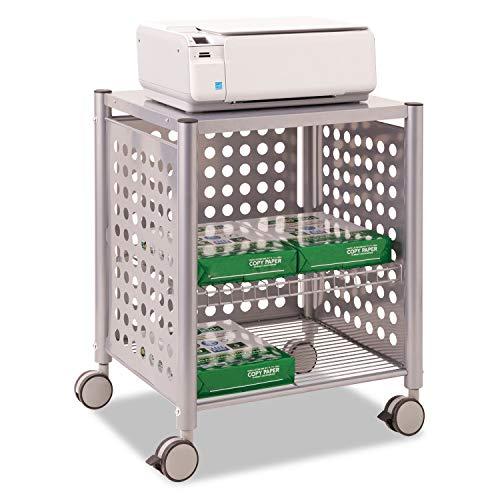- Vertiflex Deskside Machine Stand, Two-Shelf, 21 1/2w x 17 7/8d x 27h, Matte Gray - VF52004