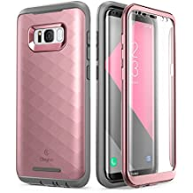 Galaxy S8 Case, Clayco [Hera Series] [Updated Version] Full-body Rugged Case with Built-in Screen Protector for Samsung Galaxy S8 (2017 Release) (RoseGold)