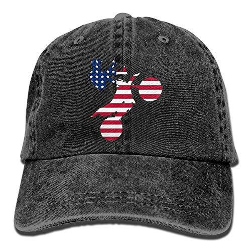 DeReneletrc Unisex American Flag Dirt Bike Classic Baseball Cap Dad Hat 100% Cotton -