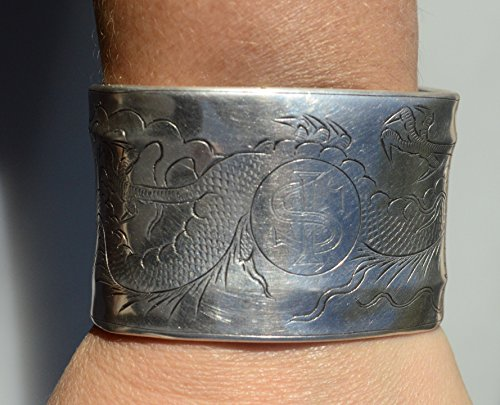 rare-antique-chinese-dragon-export-wide-cuff-bracelet-art-nouveau-etched-925-solid-sterling-silver-9