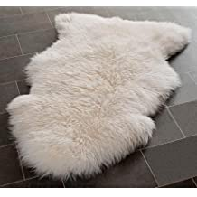 A-STAR Rugs(TM) Genuine Sheepskin Rug Single Pelt White Ivory Fur 2x3