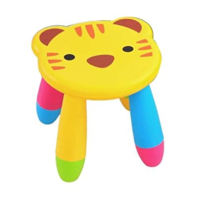 "Gerson 11"" Children's Plastic Animal Theme Stool Chair (Tiger): Kitchen & Dining"