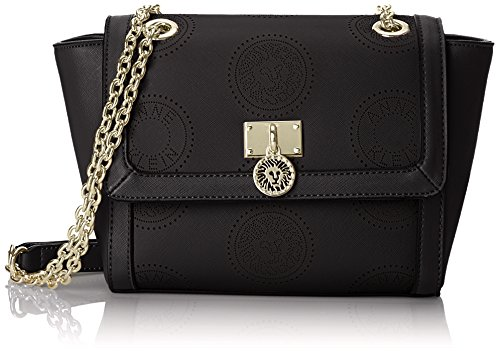 Anne Klein New Recruits Perforated Signature Cross Body Bag BlackBlack One Size