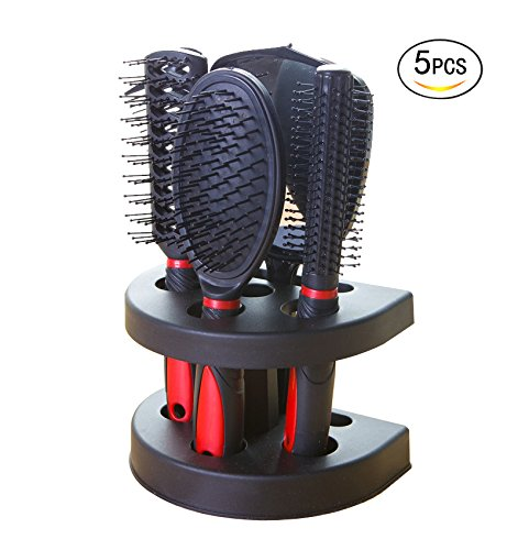 Healthcom Hairs Combs Salon Hairdressing Styling Tool Hair Cutting Brushes Sets Dressing Comb Kits,Set of 5 by Healthcom