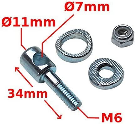"""New Bicycle Rear Cantilever Brake Pivot Bolt 1-1//4/"""" Mounting End"""
