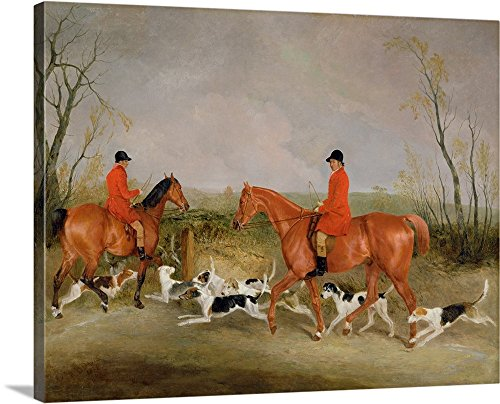 s Premium Thick-Wrap Canvas Wall Art Print entitled George Mountford, Huntsman to the Quorn, and W. Derry 30