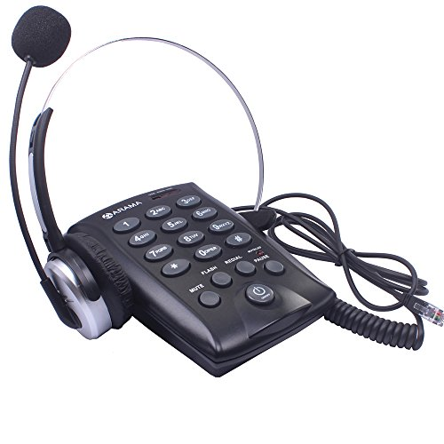 Wantek Corded Dialpad with Headset Telephone for Call Center with Tone Dial Key Pad Plug and Play for Office Business and Home (T800M1)
