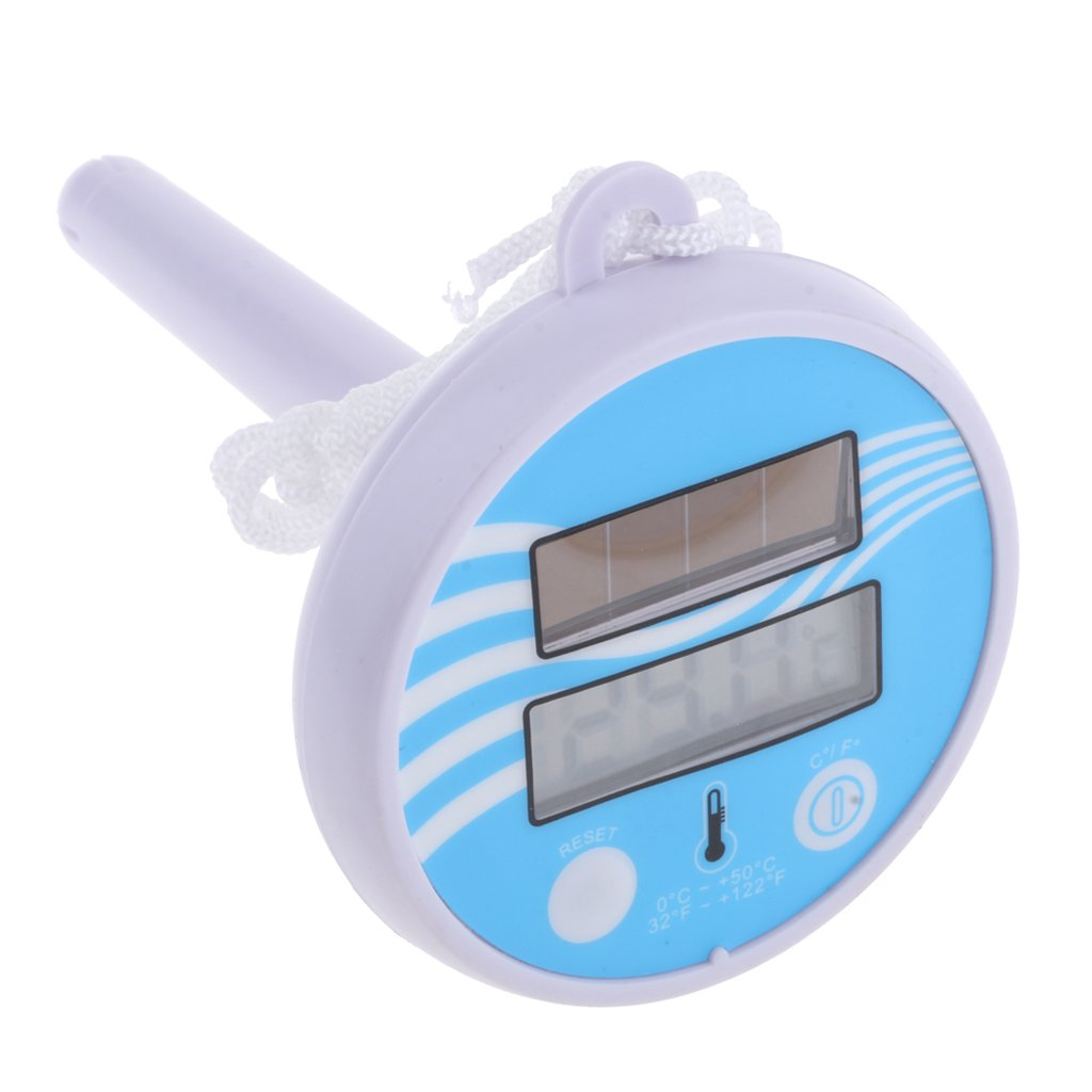 Fityle Digital Floating Swimming Pool Solar Powered Thermometer Water Temperature, Floats in your pool or spa for constant monitoring