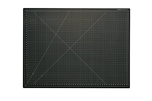 Dahle Vantage 10674 Self-Healing Cutting Mat, 36″x48″,  1/2″ Grid, 5 Layers for Max Healing, Perfect for Cropping, Sewing, & Crafts, Black