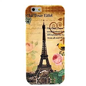 Iphone 6 Case,retro Classic Paris Eiffel Tower Design Pattern Gel Silicone Soft Case Cover Skin for Apple Iphone 6 4.7 Inch Free for Screen Protector and Stylus Pen by mcsharks