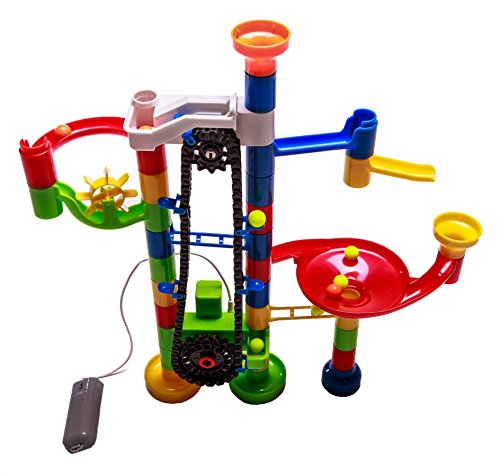 AutoRun: 110 pc. Marble Run with Battery Powered (Marble Run Elevator)