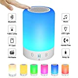 【2018 UPGRADE】 Portable Bluetooth Speakers V4.0 Wireless Speakers Stereo Subwoofer Smart Touch Speakers Color Changing … (Small)