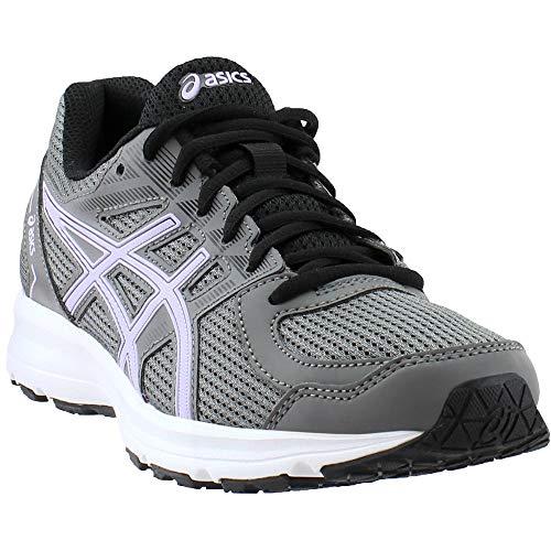 ASICS Womens Jolt Running Shoe Fabric Low Top Lace Up, Carbon/Murasaki, Size -