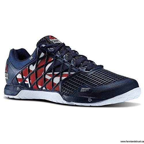 Womens Reebok Crossfit Nano 4.0 UK Flagpax Shoes Navy/Excellent Red/White/Black M48465 Size 10 wAHYMJ